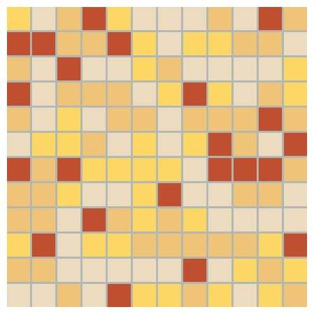 Глазурованная плитка Creative System 3752CK74