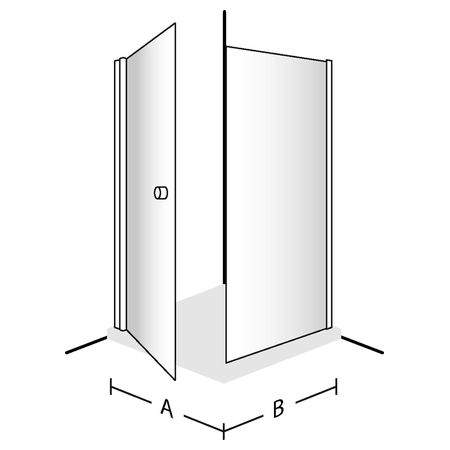 Распашная дверь Frame To Frame DW1010SKA130V-61